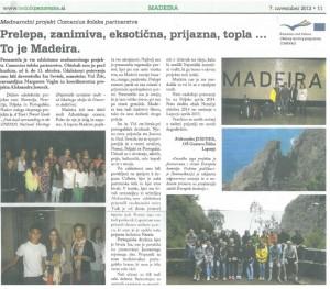Izmenjava Madeira